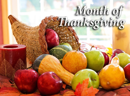 Read more about the article Month of Thanksgiving